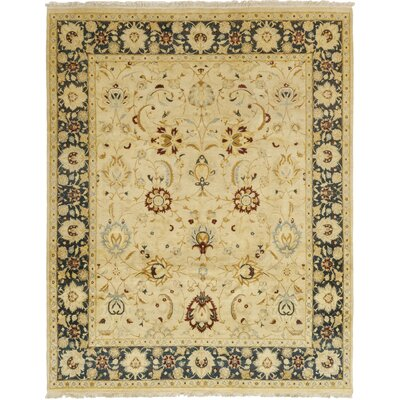 One-of-a-Kind Coulibaly Hand-Knotted Wool Beige Area Rug
