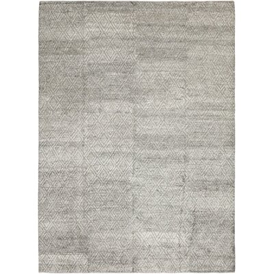 One-of-a-Kind Dillard Hand-Knotted Gray Area Rug