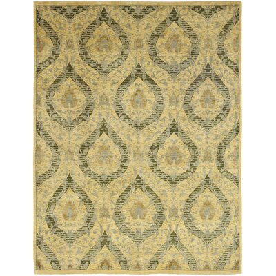 One-of-a-Kind Lobardy Hand-Knotted Wool Beige Area Rug