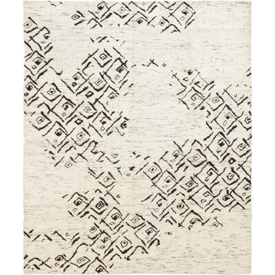One-of-a-Kind Doris Hand-Knotted Silk Ivory Area Rug