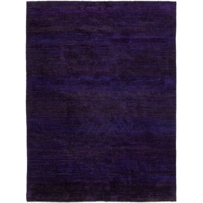 One-of-a-Kind Spackman Hand-Knotted Silk Purple Area Rug