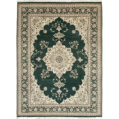One-of-a-Kind Costigan Hand-Knotted Wool Green Area Rug