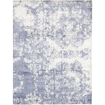 One-of-a-Kind Finkel Hand-Knotted Wool Blue Area Rug