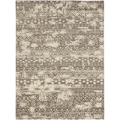 One-of-a-Kind Donellan Hand-Knotted Wool Brown Area Rug