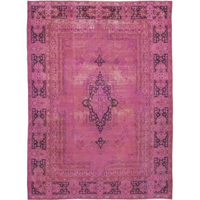 One-of-a-Kind North Palisade Hand-Knotted Wool Pink Area Rug