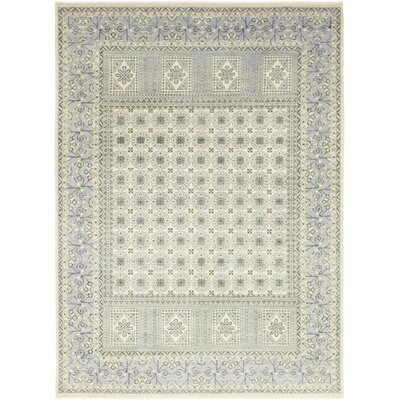 One-of-a-Kind Hein Hand-Knotted Wool Blue Area Rug