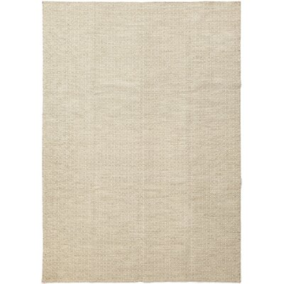 One-of-a-Kind Ellman Hand-Knotted Wool Beige Area Rug