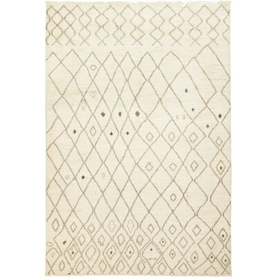 One-of-a-Kind Chelmsford Hand-Knotted Wool Ivory Area Rug