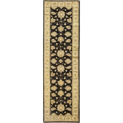 One-of-a-Kind Corrado Hand-Knotted Wool Black Area Rug
