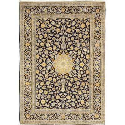 One-of-a-Kind Cornelio Hand-Knotted Wool Blue Area Rug
