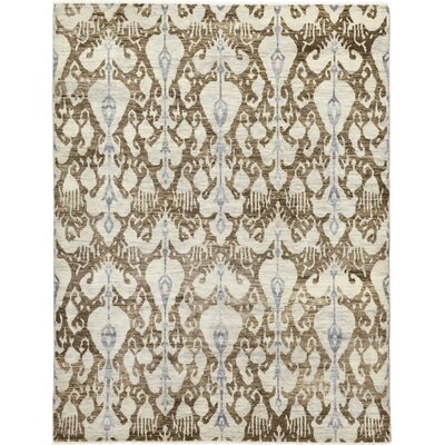 One-of-a-Kind Virenque Hand-Knotted Wool Brown Area Rug