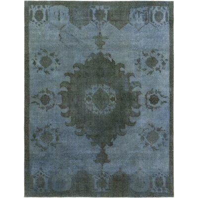 One-of-a-Kind Dette Hand-Knotted Wool Blue Area Rug