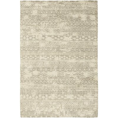 One-of-a-Kind Domingues Hand-Knotted Wool Beige Area Rug