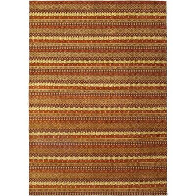 One-of-a-Kind Kostka Hand-Knotted Wool Orange Area Rug