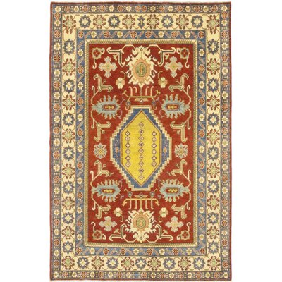 One-of-a-Kind Little Nell Hand-Knotted Wool Red/Beige Area Rug