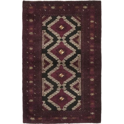 One-of-a-Kind DiVanno Hand-Knotted Wool Purple Area Rug