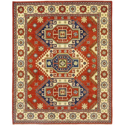 One-of-a-Kind Liebler Hand-Knotted Wool Red Area Rug