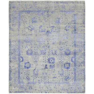 One-of-a-Kind Losurdo Hand-Knotted Wool Blue Area Rug