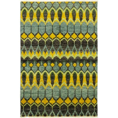 One-of-a-Kind Tiphonnet Hand-Knotted Wool Green Area Rug