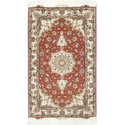 One-of-a-Kind Costigan Hand-Knotted Wool Red/Gray Area Rug