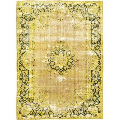 One-of-a-Kind Lisanti Hand-Knotted Wool Yellow Area Rug