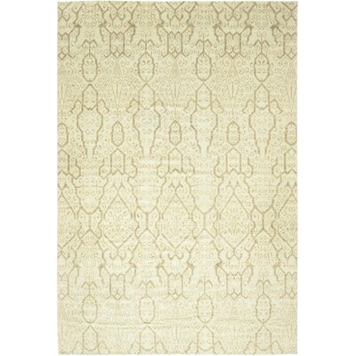 One-of-a-Kind Monhollan Hand-Knotted Wool Beige Area Rug