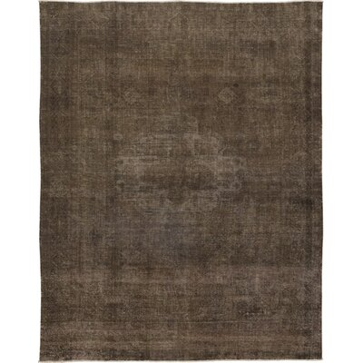 One-of-a-Kind Sansoucy Hand-Knotted Wool Brown Area Rug