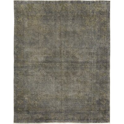 One-of-a-Kind Massoni Hand-Knotted Wool Gray Area Rug