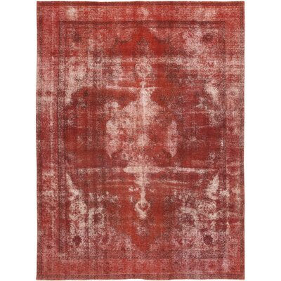 One-of-a-Kind Zelazny Hand-Knotted Wool Red Area Rug
