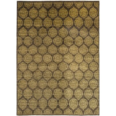 One-of-a-Kind Courtenay Hand-Knotted Wool Brown Area Rug