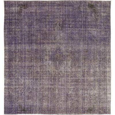 One-of-a-Kind DeSylvia Hand-Knotted Wool Purple Area Rug