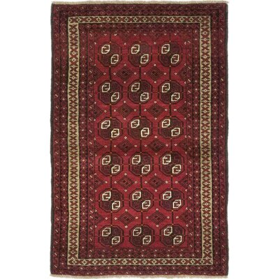 One-of-a-Kind DiVanno Hand-Knotted Wool Red Area Rug