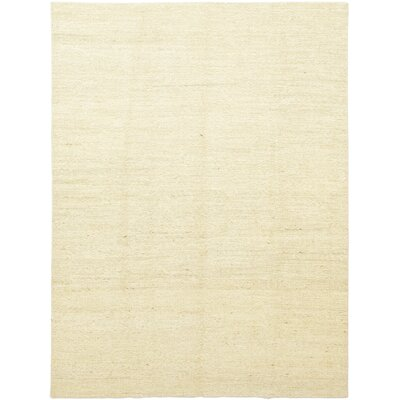 One-of-a-Kind Moreell Hand-Knotted Wool Beige Area Rug