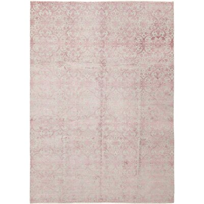 One-of-a-Kind Digiacomo Hand-Knotted Pink Area Rug