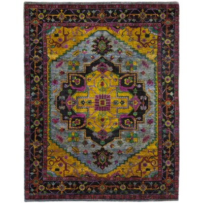 One-of-a-Kind Colgan Hand-Knotted Silk Yellow/Blue Area Rug