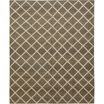 One-of-a-Kind Kott Hand-Knotted Wool Brown Area Rug