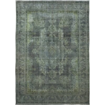 One-of-a-Kind Stattman Hand-Knotted Wool Green Area Rug