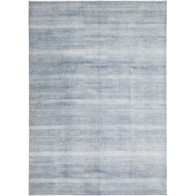 One-of-a-Kind Diederich Hand-Knotted Blue Area Rug