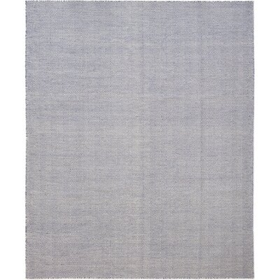 One-of-a-Kind Encarnacion Hand-Knotted Wool Blue Area Rug