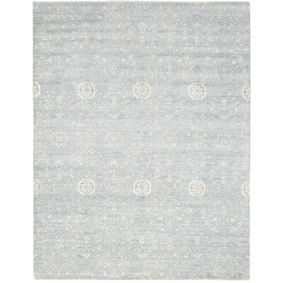 One-of-a-Kind Mulhern Hand-Knotted Wool Blue Area Rug