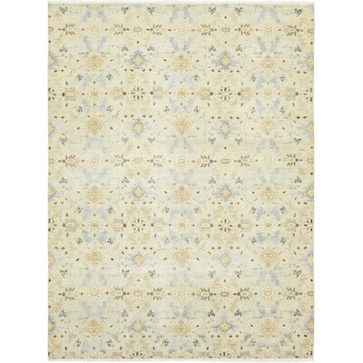 One-of-a-Kind Eslettes Hand-Knotted Wool Beige Area Rug