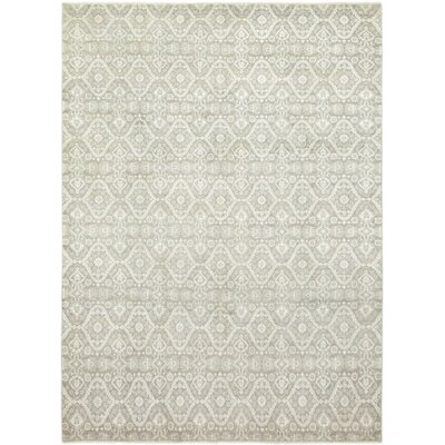 One-of-a-Kind Eslettes Hand-Knotted Wool Gray/White Area Rug