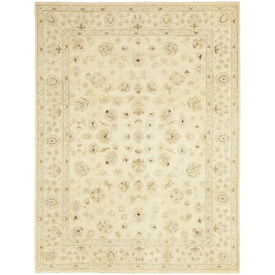One-of-a-Kind Nevil Hand-Knotted Wool Beige Area Rug