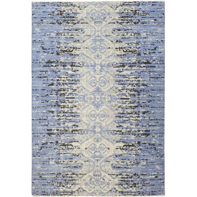 One-of-a-Kind Nevis Hand-Knotted Wool Blue Area Rug