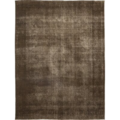 One-of-a-Kind Rahmani Hand-Knotted Wool Brown Area Rug