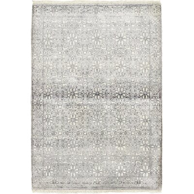 One-of-a-Kind Newberry Hand-Knotted Gray Area Rug