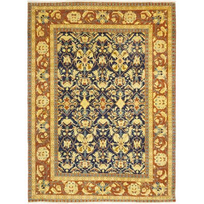 One-of-a-Kind Heimbach Hand-Knotted Wool Gold/Blue Area Rug