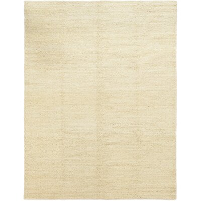 One-of-a-Kind Morley Hand-Knotted Wool Beige Area Rug