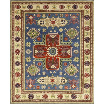 One-of-a-Kind Little Nell Hand-Knotted Wool Blue Area Rug