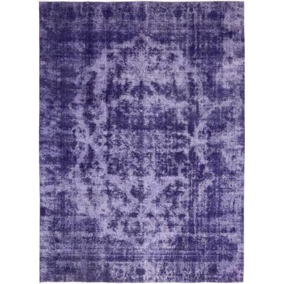 One-of-a-Kind Volkmar Hand-Knotted Wool Purple Area Rug